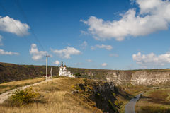 Orthodox church in the monastery in Old Orhei. Moldova Royalty Free Stock Photo