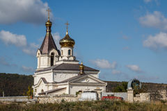 Orthodox church in the monastery in Old Orhei. Moldova Stock Images