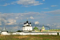 An Orthodox Church and monastery. Photographed close up Royalty Free Stock Images