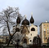 Orthodox Church and monastery. Photographed close up Stock Image