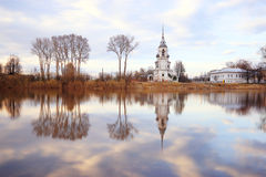 Orthodox Church Monastery. Among river water Royalty Free Stock Photo