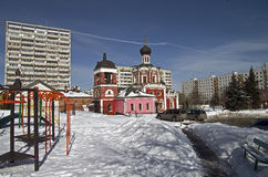 The Orthodox Church in Moscow. Royalty Free Stock Photo