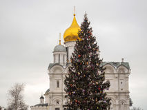 Orthodox Church in the Moscow Kremlin stock images
