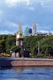 Orthodox church and mosque Stock Photography