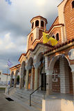 Orthodox church in Nea Vrasna Royalty Free Stock Photography