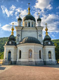 Orthodox church nearby Foros Crimea. Russia stock images