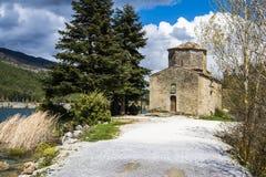 Orthodox Church next to Lake Royalty Free Stock Photography