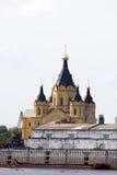 Orthodox church nizhniy novogord Royalty Free Stock Image