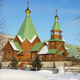 Orthodox Church in the Northern town of Russia Stock Photography
