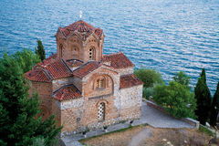 Orthodox church at Ohrid Lake Stock Images