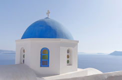 Orthodox church in Oia Royalty Free Stock Images