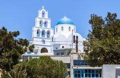 Orthodox Church in Santorini, Greece Stock Photos