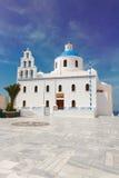 The Orthodox Church  in Oia, Santorini Stock Photography