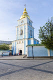 The Orthodox Church in the Old and the Byzantine style in the center of Kiev, Ukraine. Stock Photos
