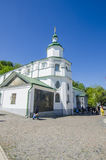 The Orthodox Church in the Old and the Byzantine style in the center of Kiev, Ukraine. Stock Image