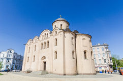 The Orthodox Church in the Old and the Byzantine style in the center of Kiev, Ukraine. Royalty Free Stock Photo