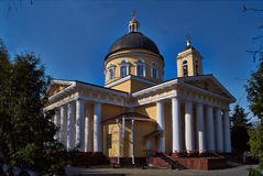 Orthodox church in the old park. Stock Photo