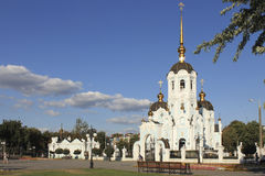 Orthodox church on one of the squares in Kharkiv.  royalty free stock photo