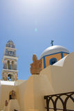 Orthodox church. The orthdox church with blue sky of Greece island Royalty Free Stock Photography