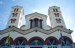 Orthodox church. With cross and windows Royalty Free Stock Images
