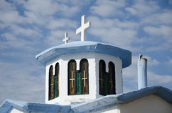 Orthodox church. With cross and windows Royalty Free Stock Photo