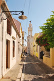 The Orthodox Church outside of Rhodes Royalty Free Stock Photos