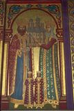 Orthodox church painting. Painting in an Orthodox church in Romania Royalty Free Stock Photo