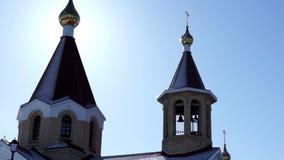 Orthodox church pan stock video