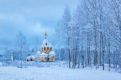 Orthodox church of Panteleimon in winter Stock Image
