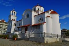 Orthodox church in Paralija Stock Images