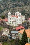 Orthodox Church in Pedoulas village Stock Photos