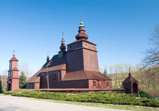 Orthodox Church in Poland. Wooden Orthodox Church in Mecina Wielka builded in XIX Century, Poland royalty free stock photography