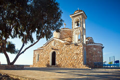 Ayios elias church on top of the hill Royalty Free Stock Photos