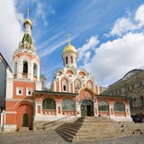 Orthodox church on Red Square, Moscow. Traditional russian orthodox church on Red Square, Moscow Royalty Free Stock Photo