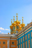 Orthodox church of Resurrection in the Catherine Palace in Pushk Stock Images