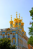 Orthodox church of Resurrection in the Catherine Palace in Pushk Royalty Free Stock Photos