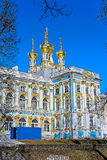 Orthodox Church of the Resurrection with golden domes of Catheri Royalty Free Stock Images