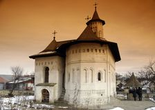Orthodox Church in Romania. Shot wih half orange filter Stock Photography