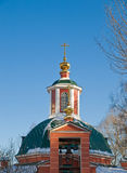 Orthodox church in Russia. Winter day Stock Photography