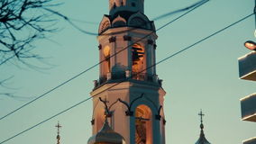 Orthodox church in russia stock video