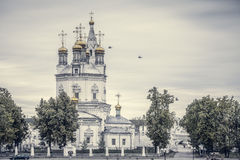 Orthodox Church. In Russian Siberia Royalty Free Stock Images