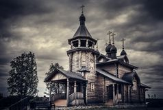 Orthodox Church. In Russian Siberia Stock Images