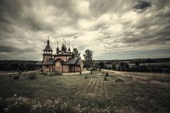 Orthodox Church. In Russian Siberia. Built-handed officers of the Russian army Royalty Free Stock Photography
