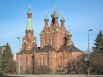 Tampere Orthodox Church, Finland Royalty Free Stock Photos