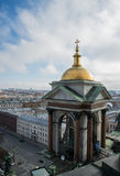 Orthodox church at Saint - Petersburg. Wallpaper Royalty Free Stock Photography