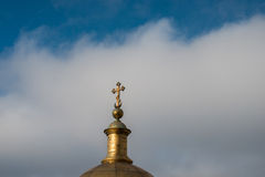 Orthodox church at Saint - Petersburg. Wallpaper Royalty Free Stock Images