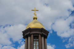 Orthodox church at Saint - Petersburg Royalty Free Stock Image