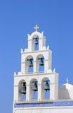 Orthodox church in Santorini Royalty Free Stock Images