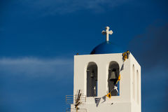 The orthodox church in Santorini Royalty Free Stock Image