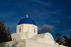 The orthodox church in Santorini Stock Image
